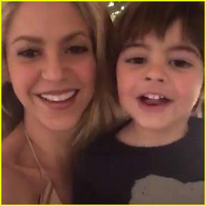 VIDEO: Shakira's Sons Milan & Sasha Wish Fans Happy New Year!