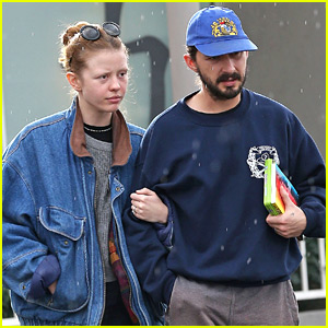 Shia LaBeouf & Mia Goth Get Caught in the Rain Before NYE