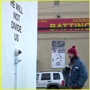 Shia LaBeouf Stops By His Anti-Trump Live Stream Site