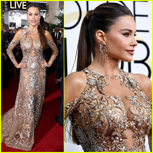 Sofia Vergara's Golden Dress Steals the Show at Golden Globes