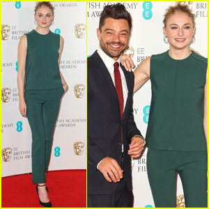 Sophie Turner & Dominic Cooper Step Out at BAFTA Nomination Announcement