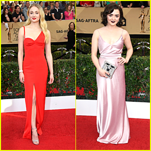 Sophie Turner & Maisie Williams Step Up Their Style Game for SAG Awards 2017