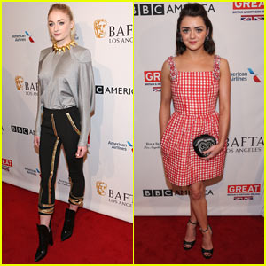 'Game of Thrones' Stars Sophie Turner & Maisie Williams Stun at BAFTA Tea Party