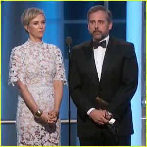VIDEO: Kristen Wiig & Steve Carell Cracked Us Up at Golden Globes 2017