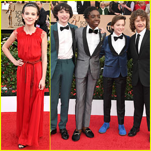 'Stranger Things' Cast Hits the Red Carpet at SAG Awards!