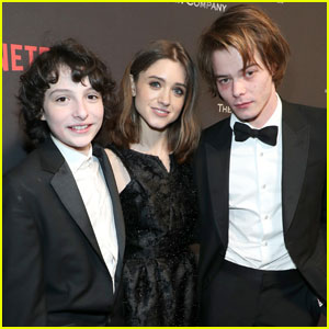 Natalia Dyer Parties With 'Stranger Things' Co-Stars Charlie Heaton & Finn Wolfhard After Golden Globes 2017