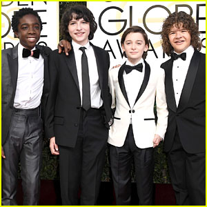 'Stranger Things' Kids Look Dapper in Their Suits at Golden Globes 2017!