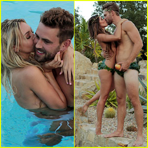 VIDEO: The Bachelor's Corinne Takes Bikini Top Off for Sexy Shoot with Nick!