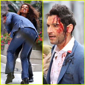 Tom Ellis Is Covered in Blood for 'Lucifer' Fight Scene
