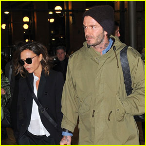David & Victoria Beckham Travel to Paris Together