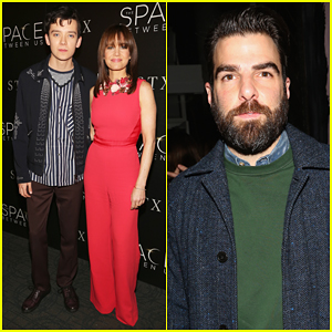 Zachary Quinto Joins 'The Space Between Us' Stars At New York Premiere!