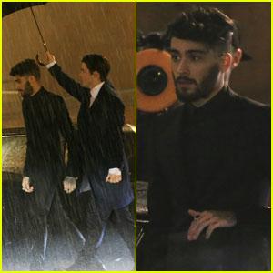 Zayn Shoots 'I Don't Wanna Live Forever' Video in Rainy London