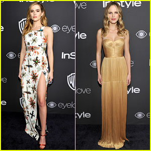 Zoey Deutch & Halston Sage Step Out in Style After Golden Globes 2017