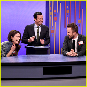 Aaron Paul & Keri Russell Compete Against Each Other In 'Password' - Watch Now!