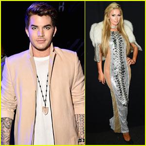 Adam Lambert & Paris Hilton Attend The Blonds Fashion Show