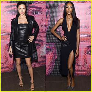 Adriana Lima & Jourdan Dunn Buddy Up At Maybelline's NYFW Party!
