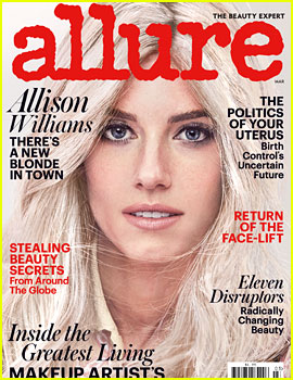 Allison Williams Goes Platinum Blonde for 'Allure'