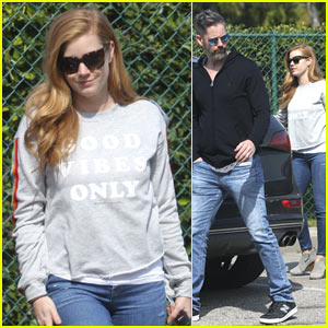 Amy Adams & Husband Darren Le Gallo Run Errands Ahead of the Oscars
