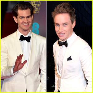 Andrew Garfield & Eddie Redmayne Are Matching in White at BAFTAs 2017!
