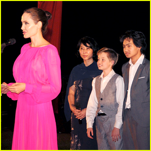 Angelina Jolie's Kids Beam with Pride While Watching Her Speak in Cambodia!