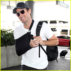 Armie Hammer Found an Awesome Spot in the Frankfurt Airport