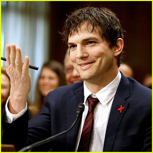 Ashton Kutcher Blows a Kiss to Senator John McCain - Watch Now!