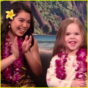 Auli'i Cravalho Performs 'How Far I'll Go' With Viral 4-Year-Old Singer Claire Ryann