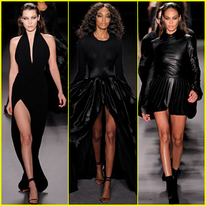 Bella Hadid, Jourdan Dunn, & Joan Smalls Look Fierce for Brandon Maxwell's Runway!