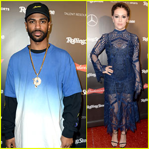 Big Sean & Alyssa Milano Attend Rolling Stone's Pre-Super Bowl Party!