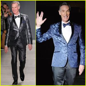 Bill Nye the Science Guy Walked the Runway Twice During Fashion Week!