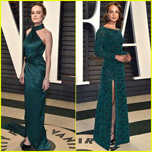 Brie Larson & Alicia Vikander Wear Same Color to Vanity Fair Oscar Party 2017!