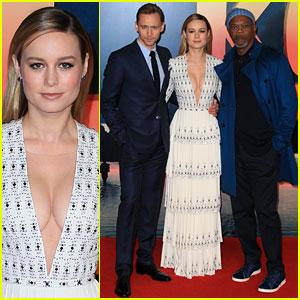 Tom Hiddleston, Brie Larson & Samuel L. Jackson Pose at 'Kong: Skull Island' Premiere!