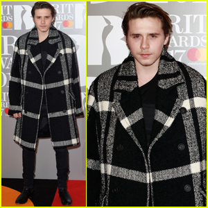 Brooklyn Beckham Keeps Collarbone Injury Under Cover at 2017 Brit Awards