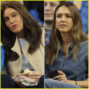 Caitlyn Jenner & Jessica Alba Sit Courtside at UCLA Game