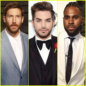 Calvin Harris, Adam Lambert & Jason Derulo Represent The Hit-Makers At Oscars Parties!