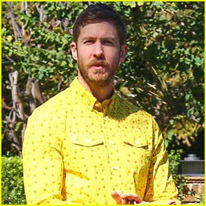 Calvin Harris Rocks a Bold Outfit During a Photoshoot