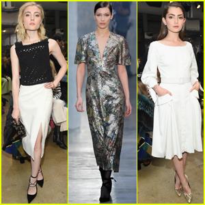 Emily Robinson & Skyler Samuels Get Fashionable For 'Carolina Herrera' NYFW Show