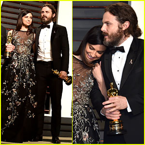 Casey Affleck & Girlfriend Floriana Lima Make Red Carpet Debut at Vanity Fair Oscars Party 2017!
