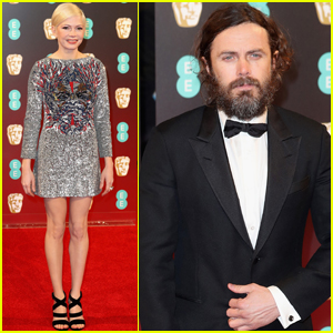 Casey Affleck & Michelle Williams Step Out at BAFTAs 2017