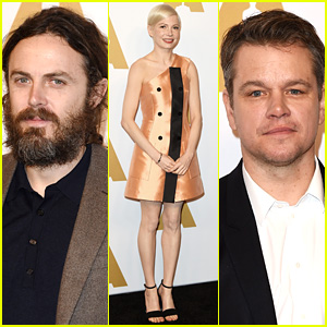 Casey Affleck, Michelle Williams, & 'Manchester' Team Celebrate Noms at Oscars Lunch!