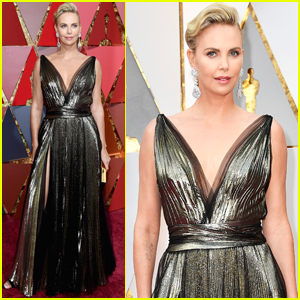Charlize Theron Hits the Red Carpet Before Presenting at Oscars 2017