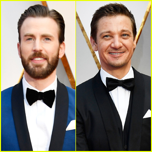 Chris Evans & Jeremy Renner Look Dapper For Oscars 2017
