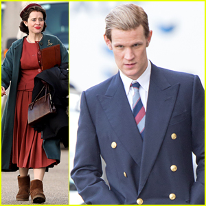 Claire Foy & Matt Smith Are Hard at Work on 'The Crown' Season 2!