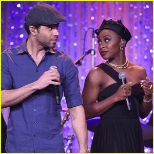 Cynthia Erivo & Corbin Bleu Sing at Weinstein Oscars Bash