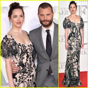 Dakota Johnson & Jamie Dornan Pair Up For 'Fifty Shades Darker' Premiere in London
