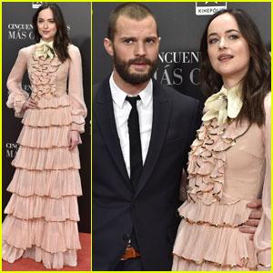 Dakota Johnson & Jamie Dornan Bring 'Fifty Shades Darker' To Madrid