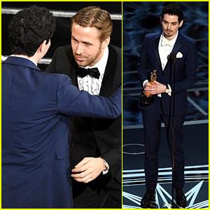 Damien Chazelle Wins Oscars' Best Director, Breaks Record for Youngest Winner! (Video)