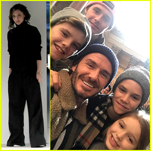 David Beckham Entertains the Kids While Victoria Works During NYFW!