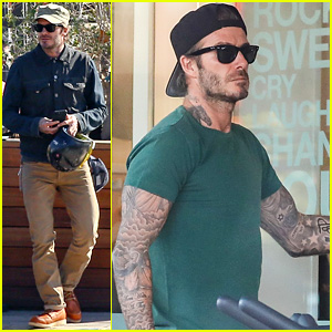 David Beckham Grabs a Sushi Lunch After Working Up a Sweat