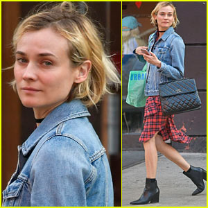 Diane Kruger Goes Makeup-Free While Out in NYC